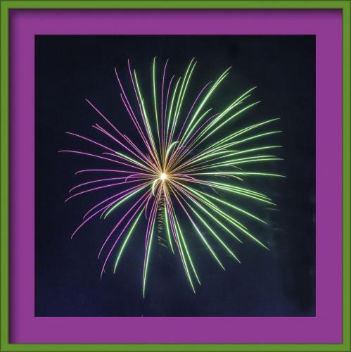 Fireworks framed andrea