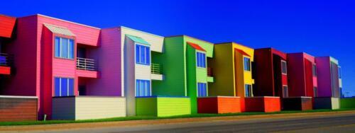 Galveston TX colorful architecture