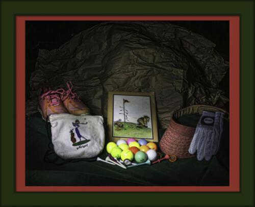 Golf light painting-framed andrea