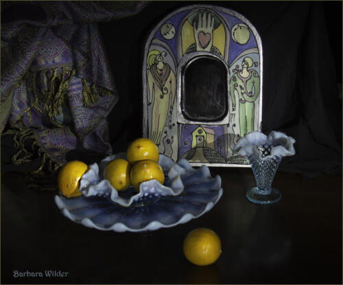 Lemons and Blue Dishes-Wilder