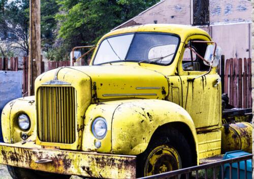 yellow grunge truck andrea