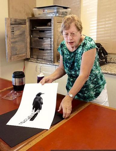 Barbara Preparing Print